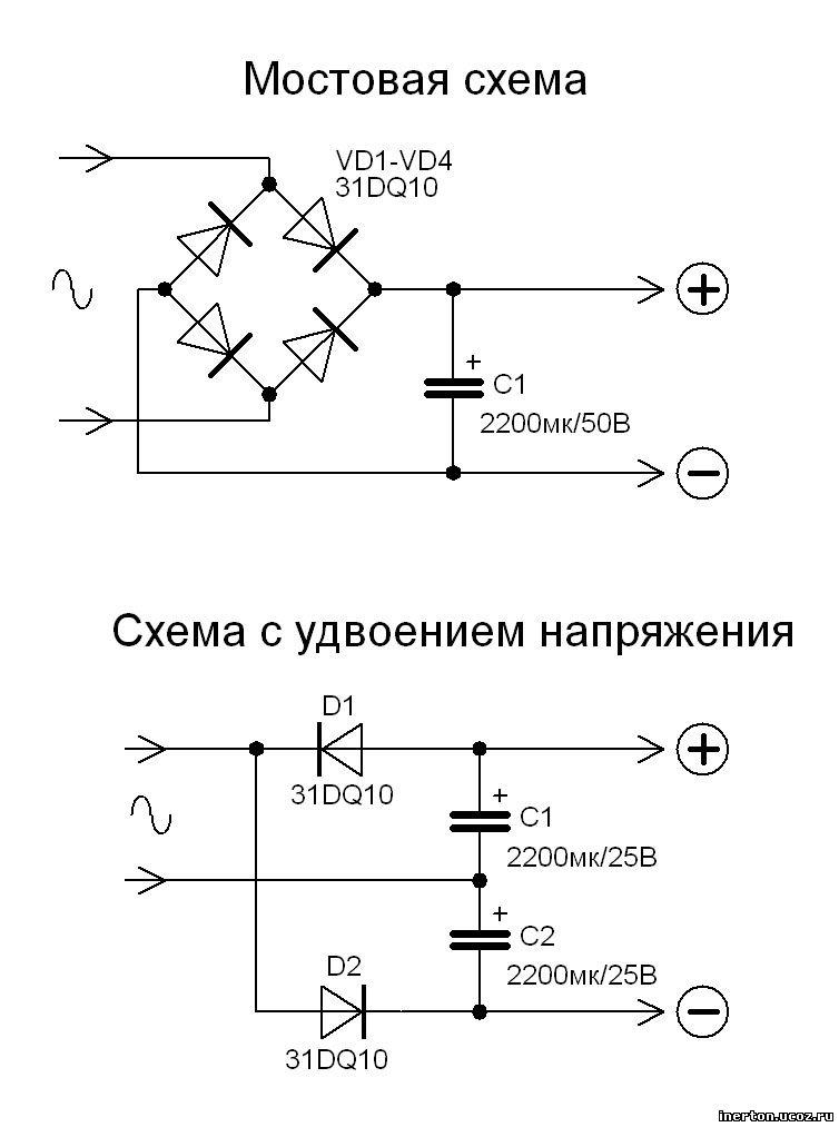 Схемы выпрямителей